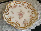 Antique Delinieres & Co Limoge, France Tea/Luncheon Plate Roses/Gold