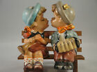 Vintage Japan Boy And Girl on Bench Kissing Salt & Pepper Shakers