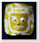 FRENCH 70´s ART POTTERY PORTANIER SCULPTURE WALL MASK