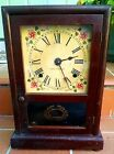 Antique Working Seth Thomas Pendulum Mantle Clock Early 1900's