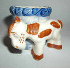 Early Occupied Japan RARE Hand-Painted Ceramic Donkey and Basket Figurine