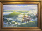 HARRY MYERS VINTAGE ORIGINAL CALIFORNIA LARGE PLEIN AIR IMPRESSIONIST SEASCAPE