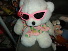 Vintage 1980s Burdines Beardines Florida Store Bear w/ Dress & Sunglasses w/ Tag