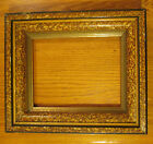 Antique Architectural Gesso Wood Triple Ornate Faux Marble Mirror Picture Frame