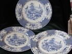 3 Antique Blue Transferware Allerton's England Chinese  9