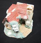 Beautiful Decorative Collectible Figurine Statue Red Gray Cottage Church Scene