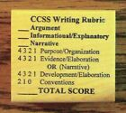 CCSS Writing Rubric Common Core Teachers Wood Mounted Rubber Stamp