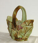 Vintage McCoy Basket Leaves and Berries Pottery