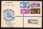 10/10/1948 First Day Cover Souvenir registered envelope used in Lyndhurst 1948