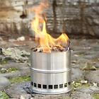 Stainless Steel Wood Stove Solidified Alcohol Stove Cooking Picnic BBQ Camping