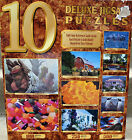 NEW~(10)~TEN DELUXE JIGSAW PUZZLES~2~1000, 3~750, 5~500, PIECES~GREAT GIFT
