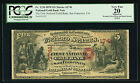Fr. 1136 1870 $5 CH. #1741 NATIONAL GOLD BANK NOTE SAN FRANCSICO, CA PCGS VF-20