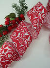 10 Yards Red White Candy Peppermint  2 1/2