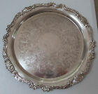 Vintage Sheridan Large Round Silver Plate Serving Tray 12 1/2