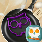 1x Cute Silicone Owl Fried Egg Mold Pancake Egg Shaper Kitchen Cooking Tool