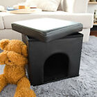 Pet Ottoman,Pet House with Cushion on the Top,Seat Box with Pet House FSS24-SCH