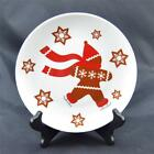 Crate Barrel Holiday Gingerbread Man Salad Dessert Plate Christmas Discontinued