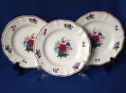 Lot of 3 antique vintage French Sarreguemines faience Agreste 8.25