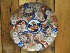 ANTIQUE JAPANESE EDO FINE IMARI PORCELAIN SCALLOPED PLATE SIGNED FLORAL