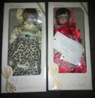 Two Vintage Gorham Porcelain Dolls Of The Month New In Box Feb And Dec