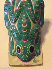VINTAGE GERMAN FROG CLICKER TIN TOY