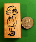 Campbell Girl Doll Wood Mounted Rubber Stamp