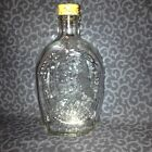 Collectible Anchor Hocking Bicentennial Log Cabin Syrup Bottle w/Ben Franklin