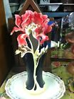 FZ00689 Franz Porcelain Peony flower Large vase rare great condition!