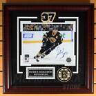 Patrice Bergeron Boston Bruins Signed Autographe?d 3rd Home Action 8x10 Framed