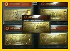 USA BANK NOTE LARGE DENOMINATION BANKNOTE 5 GOLD BANKNOTES 24KT 999.9 GOLD COA