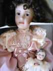 Porcelain Doll Mary Elizabeth & Her Jumeau Georgetown Collection w Stand COA 18