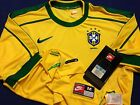 BRASIL NIKE SOCCER JERSEY NEW WORLD CUP 1998 AUTHENTIC REPLICA - AMERICA -MEXICO