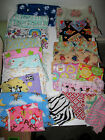 Crafting Quilting Flannel & Cotton  Fabric Scraps Novelty Kids Prints  2 pounds