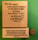Joy Comes in the Morning 2 Piece Wood Mounted Scripture Rubber Stamp Set