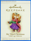 My Third Christmas Child's Age Collection 3rd Girl Cat Hallmark Ornament 2006