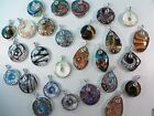 wholesale lot of 5 handmade glass pendant DIY scarf jewelry necklace