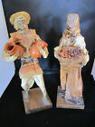 Vintage Pair Paper Mache Doll/Figurines, Mexican Man with Jugs, Woman with Beans