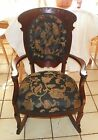 Mahogany Carved Tufted Rocker Rocking Chair  (R105)