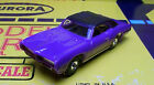 Model Motoring 69 GTO Convertible purple HO slot car Body only fits Aurora NEW