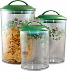 3 CORELLE Coordinates CALLAWAY IVY Acrylic CANISTER/NESTING Storage Jar Set *NEW
