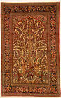Navy 4' x 7' Isfahan Rug Hand Knotted Persian Rug