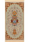 Blue 2' x 4' Isfahan Rug Hand Knotted Persian Rug