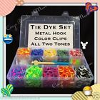 3000 Tie Dye Rainbow Rubber Band Gift Set Metal Hook crochet Storage Case Color