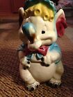 Antique Early Mccoy W8 Blonde Baby Elephant With Ice Cream Cone