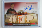 2011 Topps Triple Threads MADISON BUMGARNER On Card Auto Bat 99 Giants 2014 MVP