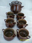 Crate & Barrel Three Quart Soup Tureen with Cover & Six (6) Matching Soup Bowls