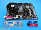Intel D975XBX2 Motherboard + CPU 24GHZ CORE 2 DUO SATA Cable I O Heat Sink Fan