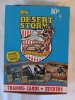TOPPS 1991 DESERT STORM TRADING CARDS STICKERS – WAX BOX w 36 PACKS