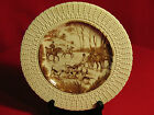 #207 HORSES HUNTING FOX ROYAL CAULDON ENGLAND TRANSFERWARE PLATE THE KILL