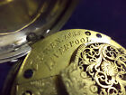 CRAVEN 1835 LIVERPOOL VERGE FUSEE 46MM POCKET WATCH WITH SILVER CASE